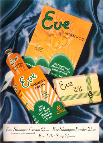 c20th - Retail advertising: Eve shampoo