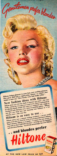 c20th - Marilyn Monroe; Gentlemen prefer blondes advert