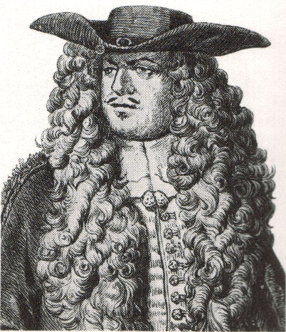 c17th -Luxuriant wig from the mid 17th century