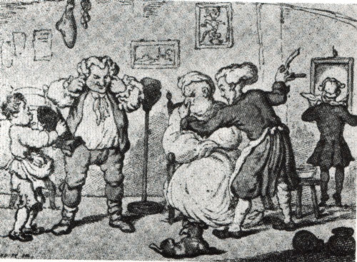 c18th - Barber's shop from the 18th century